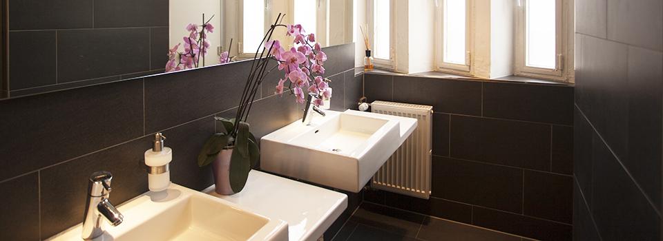 Waschräume im Orange Room - Yogastudio Maxvorstadt