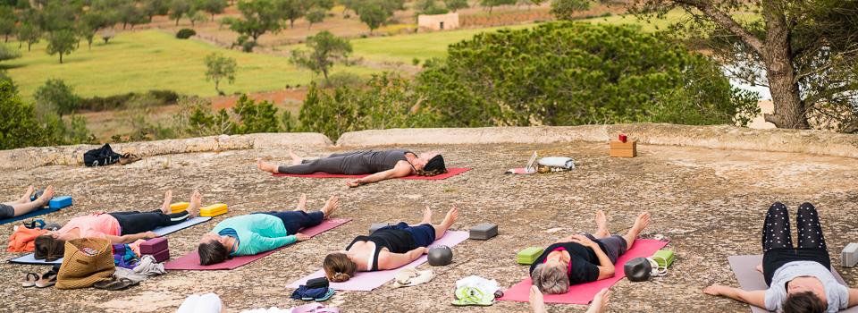 Ibiza Yoga Yoga an der frischen Luft - Schlussentspannung