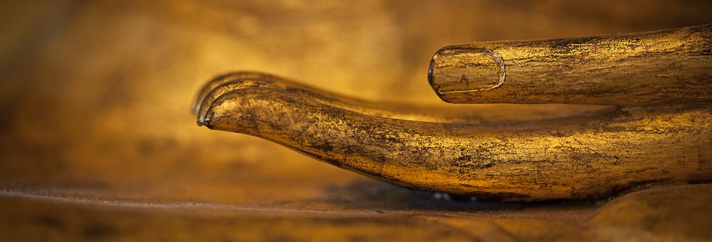 Goldene Buddhahand